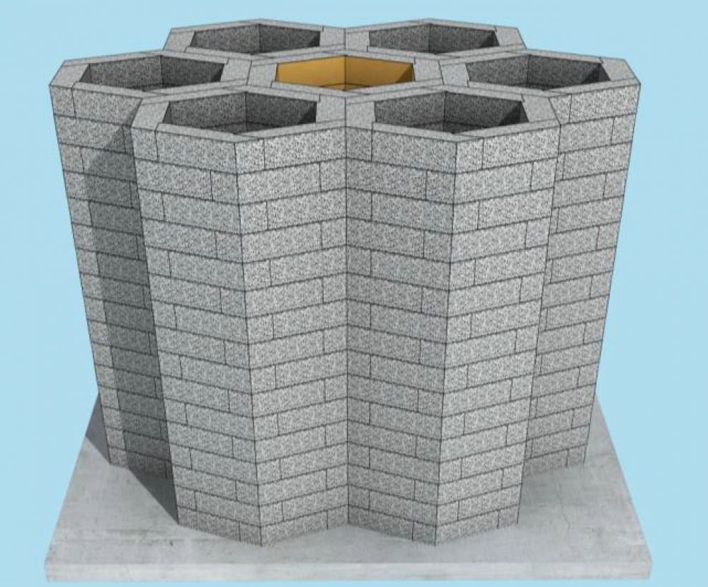 Silica Sand Honeycomb Structure Reservoir