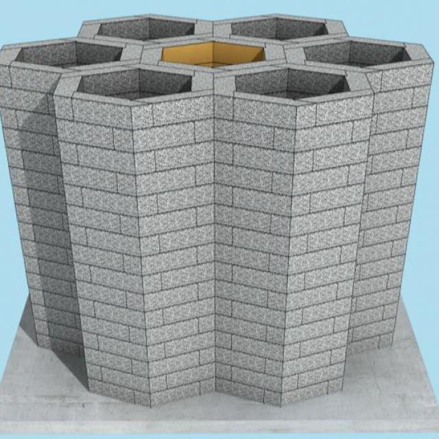 Silica Sand Honeycomb Structure Reservoir